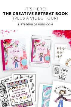 The Creative Retreat Book (Plus a Video Tour) - Jennie Moraitis Creative Crafts, Easy Crafts, Handmade Crafts, Creative Ideas, Trending Crafts, Save On Crafts, All Things Cute, Printable Cards, Printable Coloring