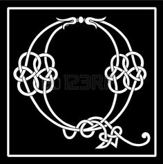 Vector of a Celtic Knot-work Capital Letter Q photo