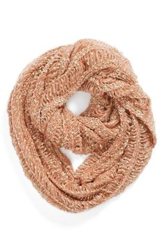 David & Young Chunky Open Weave Infinity Scarf. Love!!! My obsessions with scarves is a little ridiculous lol