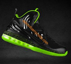 LeBron Foamposite Fluorescent Green Black