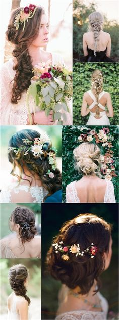spring summer long bridal wedding hairstyles / http://www.deerpearlflowers.com/spring-summer-wedding-hairstyles/
