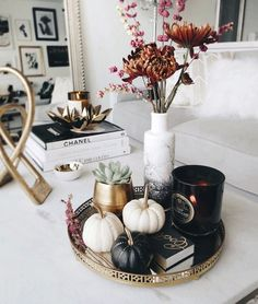 Fall coffee table décor and styling inspiration