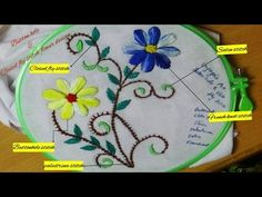 Entertainment - Embroidery works - Wine stitch flower designs - YouTube