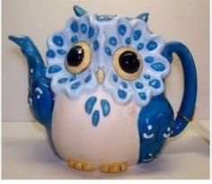 A blue WhoDat teapot....so cute!