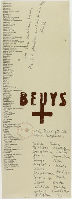 Joseph Beuys 'A Party for Animals', 1969 © DACS, 2016