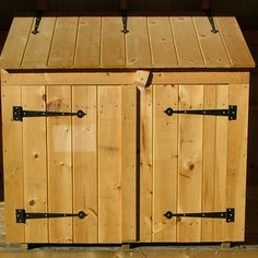 2x4 Garbage Bin - Tongue and groove siding is attractive and solid.