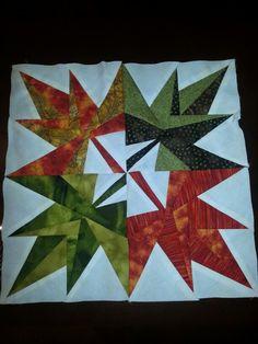4 leaf block I made for quilt camp