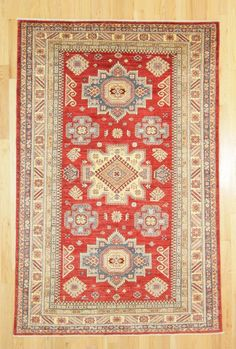 "Kaoud Oriental Rugs Red Size 5' 3"" x 8' 2"" - Rectangle"