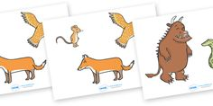 Twinkl Resources >> The Gruffalo Stick Puppets  >> Thousands of printable primary teaching resources for EYFS, KS1, KS2 and beyond! The Gruffalo, resources, mouse, fox, owl, snake, Gruffalo, fantasy, rhyme, story, story book, resources, story sequencing, story resources, stick puppet,