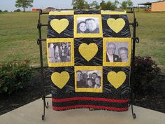 Hey, I found this really awesome Etsy listing at https://www.etsy.com/listing/98534934/custom-photo-memory-quilt-with-10