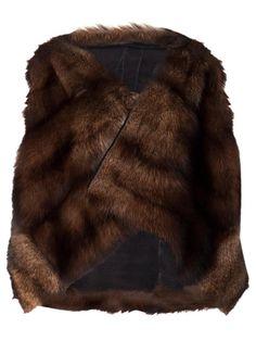 Rick Owens 'Fisher' Pêkan Fur Jacket