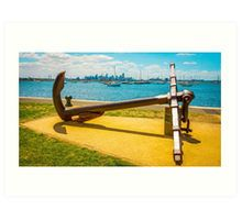 The Anchor at Hobson's Bay Marina - Williamstown, Victoria Art Print