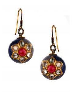 Navy Radhika Earrings x Moon River Now on www.shoplatitude.com