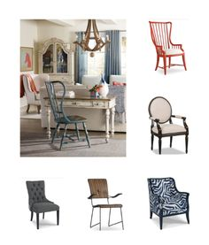 Who said office chairs can't be pretty/ From Hooker Furniture and Sam Moore Furniture.