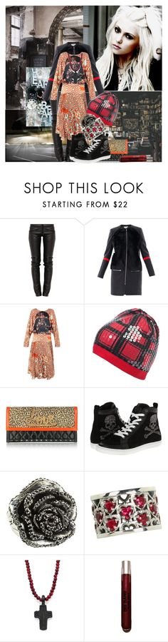 """""""Sunday Grunge"""" by sue-mes ❤ liked on Polyvore featuring Preen, Philipp Plein, King Baby Studio, Lipstick Queen and Urban Decay"""