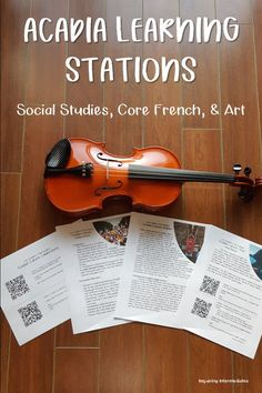 These cross-curricular Social Studies and Core French stations let students explore Acadia! They will learn about a French speaking community in Canada, francophone cultural festivals, and Canadian history. There are also tie-ins with art as students explore Acadian music and dance! Perfect for grades 5-11 social studies and/or core French. There is also a digital version that uses fillable PDFs for the stations so students can do them while engaging in online learning! How To Speak French, Learn French, Canadian Social Studies, Tie Ins, Learning Stations, Core French, Cross Curricular, Forms Of Communication, Canadian History