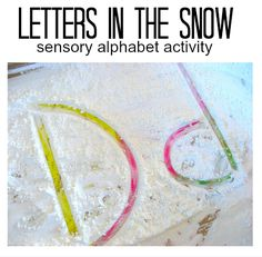 """Write in """"snow"""" with fun colors under. Great for beginners."""