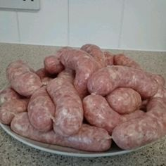 """""""This sausage is typical of the homemade sausages found in the northern area of Italy, especially in Tuscany near the city of Lucca. They may be used in any recipe calling for Italian sausage. Homemade Italian Sausage, Homemade Sausage Recipes, Italian Sausage Recipes, Sweet Italian Sausage, Meat Recipes, Food Processor Recipes, Italian Sausages, Bratwurst Recipes, Spicy Sausage"""