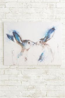 Tickly Kisses Hare Canvas