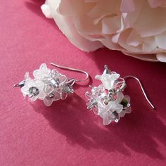 Miniature bouquets of flowers wedding earrings in white by Mouflon, Wedding Earrings, Bouquets, Wedding Flowers, Miniatures, Trending Outfits, Unique Jewelry, Handmade Gifts, Etsy, Vintage