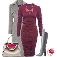 outfit 2425 by natalyag on Polyvore featuring polyvore, fashion, style, Vince, Fendi and Charter Club