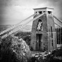 Clifton Suspension Bridge // Black and White by PrintsOfAugust