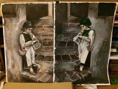 Twins acryl on canvas Twins, My Arts, Canvas, Drawings, Painting, Tela, Painting Art, Canvases, Sketches