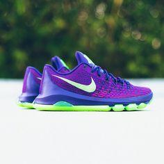 "Nike KD 8 ""Easter"" Wolf Grey//Metallic Silver-White Sneakers Size 10.5 $180"