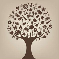 árbol abstracto arte vectorial