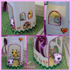 DIY Make Beautiful Doll Houses with Plastic Bottles