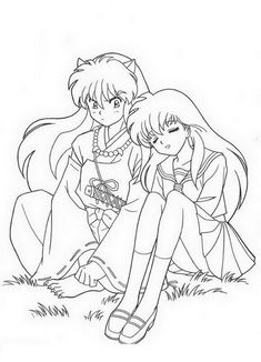 6 Strong InuYasha Coloring Sheets for Kids who Love Anime Figures - Coloring Pages Coloring Sheets For Kids, Cute Coloring Pages, Adult Coloring Pages, Manga Coloring Book, Coloring Books, Kagome And Inuyasha, Inuyasha Funny, Anime Lindo, Anime Kawaii