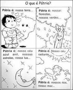 Resultado de imagem para ATIVIDADE semana da pátria 2015 - EDUCAÇÃO INFANTIL Portuguese Language, Homeschool, Education, Comics, Fictional Characters, Iphone 5s, Montessori, Safari, Religion Activities