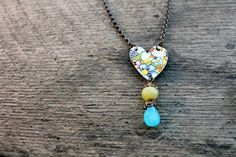 Wilderness Heart Necklace  Vintage Tin by SweetSageJewelry on Etsy, $36.00