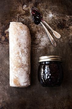 Bread with Prune Blueberry Jam
