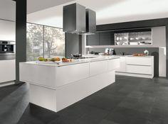 Cuisine design grise blanche