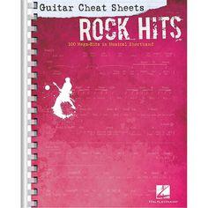 Hal Leonard Guitar Cheat Sheets - Rock Hits 100 Mega-Hits in Musical S