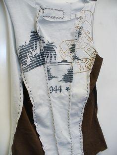Alabama Chanin-inspired T-shirt corset