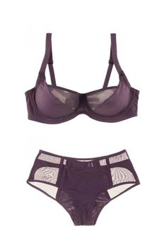 Minimalists will love this simple style, made chic with sheer panels #lingerie