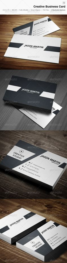 "Creative Business Card - 16 #GraphicRiver Business card – perfect for any idustry. Features. 300 DPI CMYK Print Ready! - Full Editable, Layered 2.0×3.5 (2.25"" x 3.75"" with bleed) you can find fonts here : Open sans - .google /webfonts/specimen/Open+Sans please dont forget to rate it. Created: 17March13 GraphicsFilesIncluded: PhotoshopPSD Layered: Yes MinimumAdobeCSVersion: CS2 PrintDimensions: 3.75x2.25 Tags: attractive #beautiful #brand #cmyk #color #cool #creative #designer #developer…"