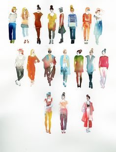 Great watercolor fashion.  Samantha Hahn
