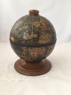 A personal favorite from my Etsy shop https://www.etsy.com/ca/listing/457359300/vintage-ice-bucket-world-globe-old-world
