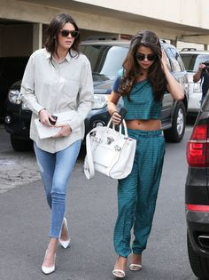 Selena Gomez and Kendall Jenner were spotted together at Joan's on Third in LA. March 21, 2014.