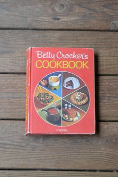 Vintage Betty Crocker Cookbook 1977 Red Pie Cover on Etsy, $18.00