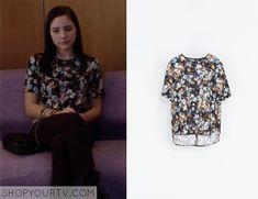 Chasing Life: Season 1 episode 13 Brenna's floral top
