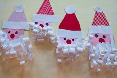 A week of kid's Christmas crafts. by guadalupe santa crafts Preschool Christmas, Christmas Activities, Christmas Crafts For Kids, Craft Activities, Christmas Projects, Preschool Crafts, Winter Christmas, Holiday Crafts, Christmas Holidays
