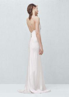 Premium - cut-out silk dress | MANGO