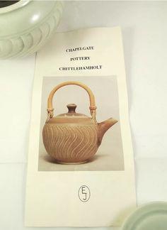 Eileen Jones, Chapelgate Pottery - EJ mark and label