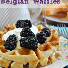 Easy & Fluffy Belgian Waffles Recipe. Tried it. LOVED it. Put some butter, brown sugar, and cinnamon on top and substituted egg whites instead.