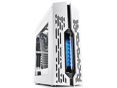 DEEPCOOL GENOME worldwide first unique PC case with integrated 360mm liquid cooling system White case with Blue helix