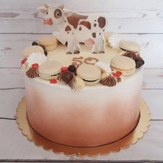 birthday cake, cow cake